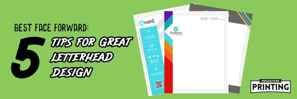 5 tips for better letterhead design