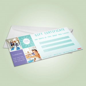 Gift Certificate with Envelope