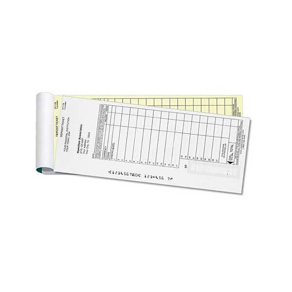 dt1 deposit ticket book