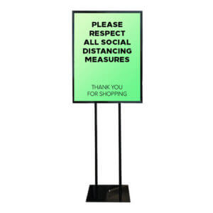 social distancing sign holder