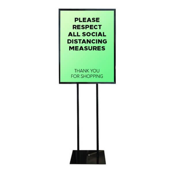 social distancing sign holder