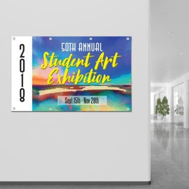 banner for art museum