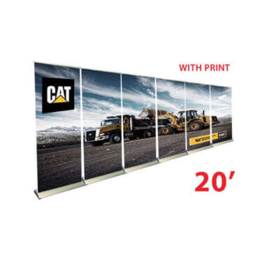 20' retractable banner walls