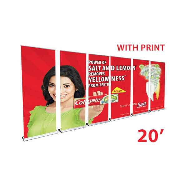 20' retractable banner wall
