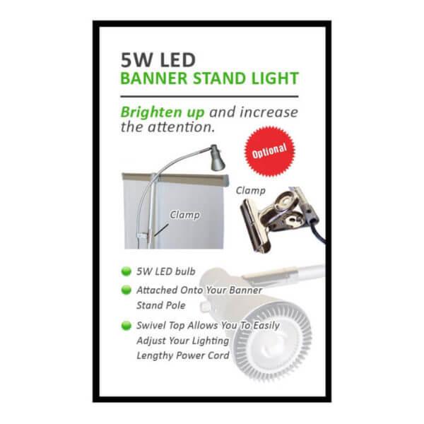 banner stand light