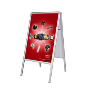 a frame double sided sidewalk sign