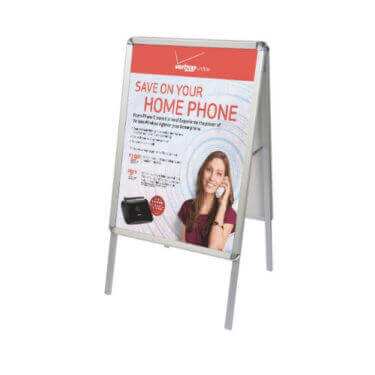 a frame snap open sidewalk poster stand