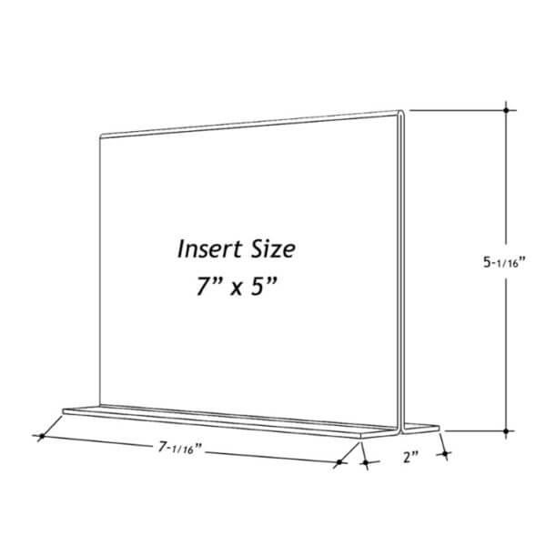 7 x 5 sign holder