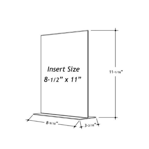 8.5 x 11 sign holder