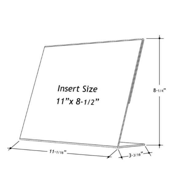 11 x 8.5 slant back holder