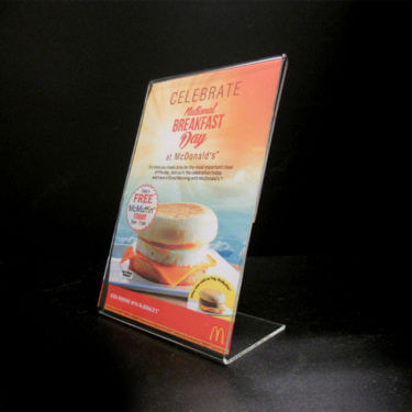 4 x 6 slant back sign holder