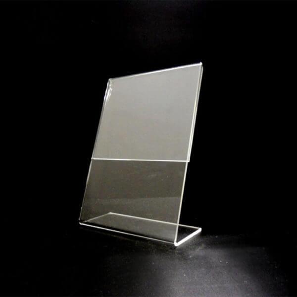 5 x 7 slant back clear holder
