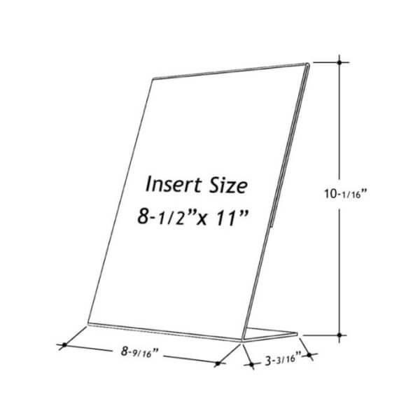 8.5 x 11 slant back sign holder