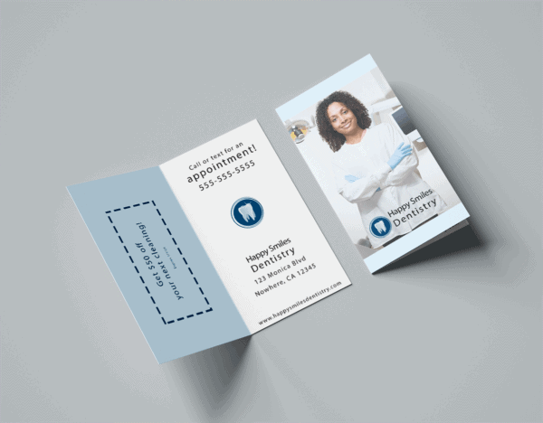 Dentist Folded Business Card