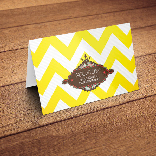 fold over business card