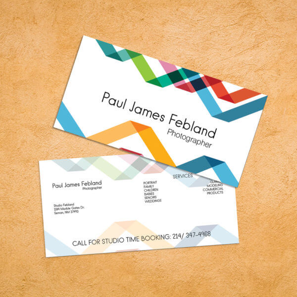 short style business cards