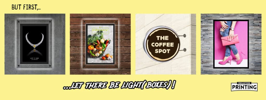 custom light boxes for posters