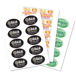 3 x 2 oval labels