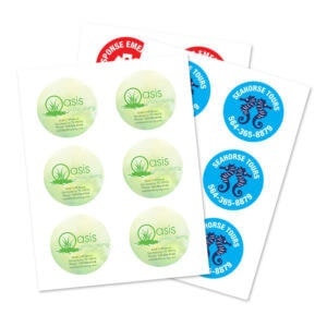 """Round 3"""" Product Label Sheets"""