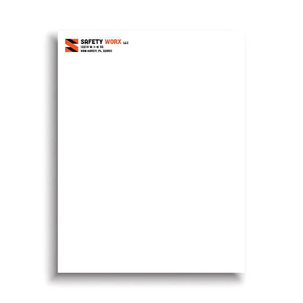 Spot Color 8.5 x 11 Letterhead
