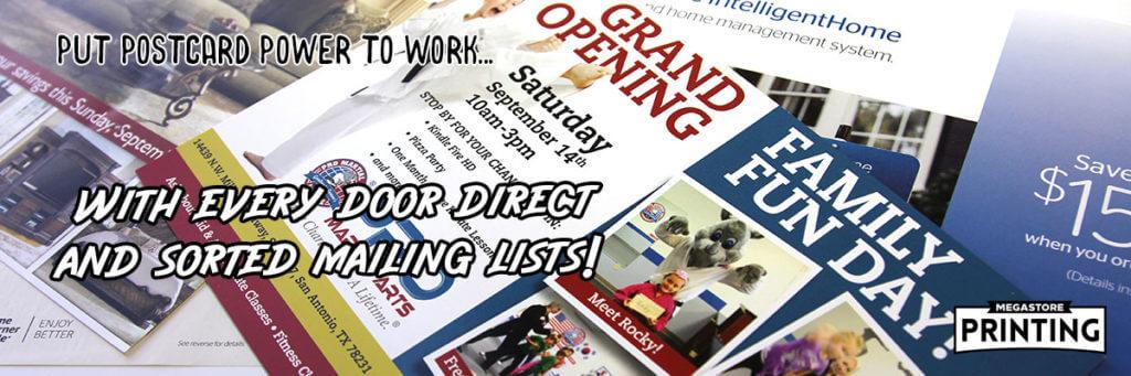 direct mail, EDDM postcards