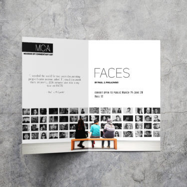 photo gallery, half-fold brochure