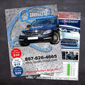 letter size flyer car wash