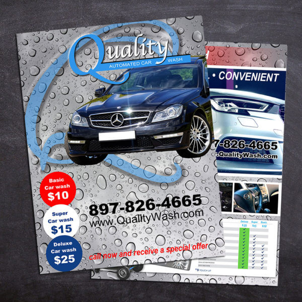 letter size flyer car wash