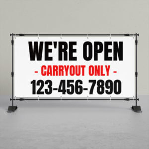 carry-out banner